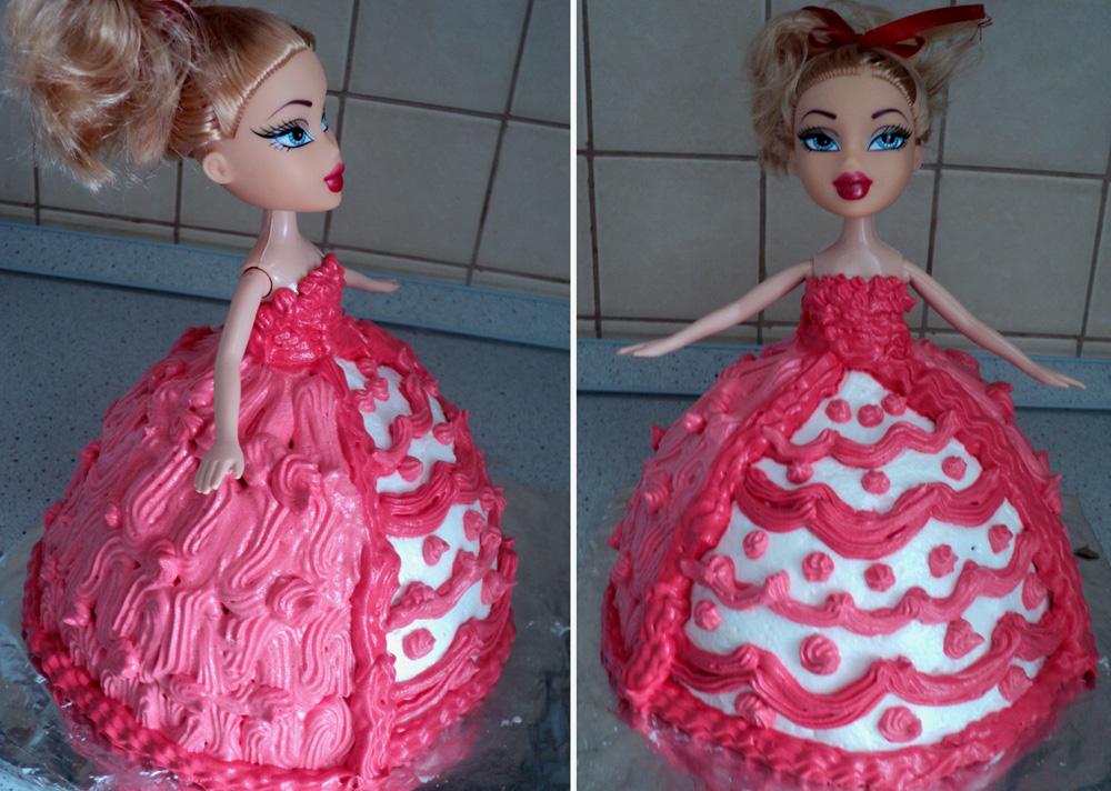 Торт кукла из крема как сделать