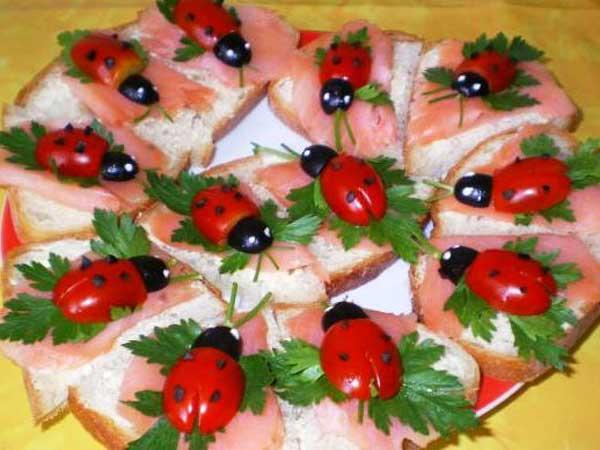 Бутерброды на день рождения с фото пошагово