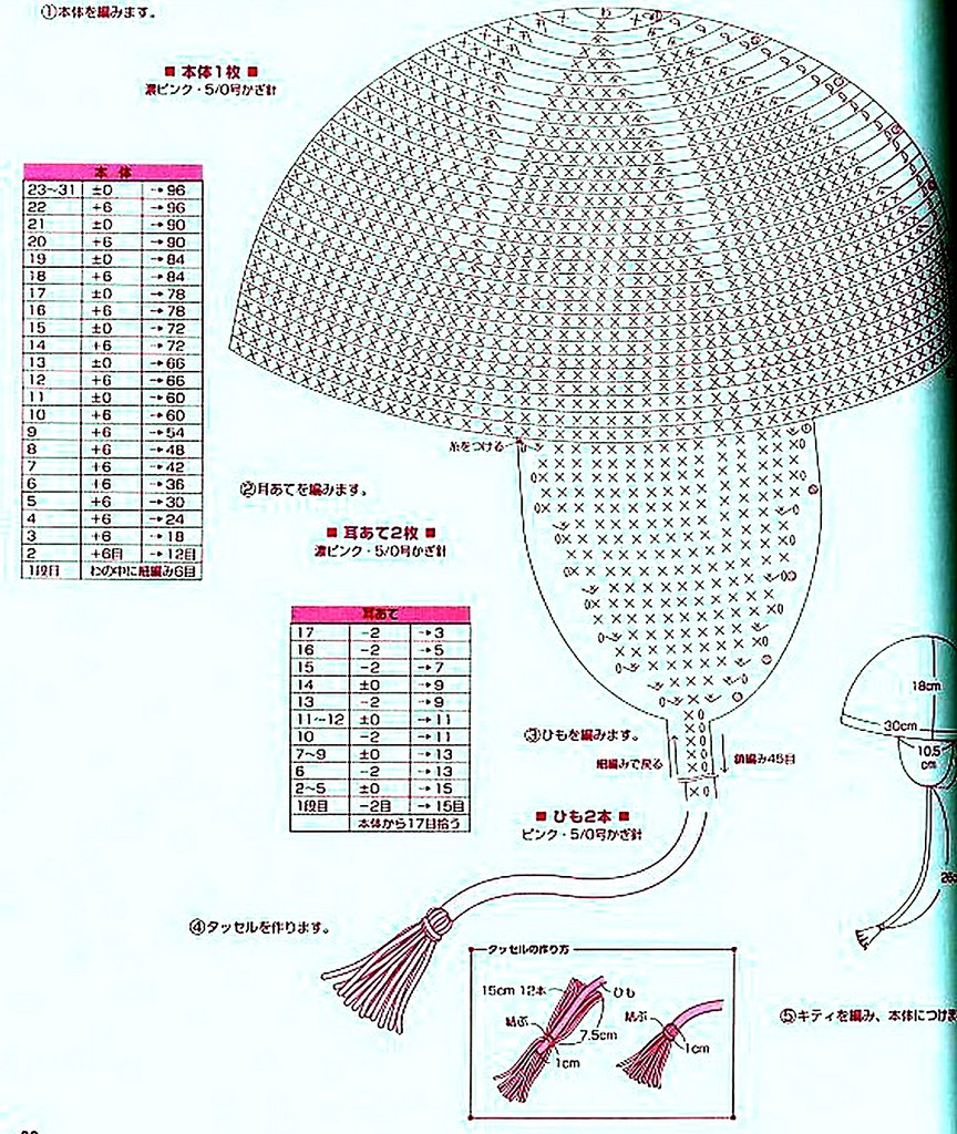 вязание крючком шапки ушанки схема